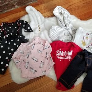 Bundle girls baby 3 month clothes tops pants